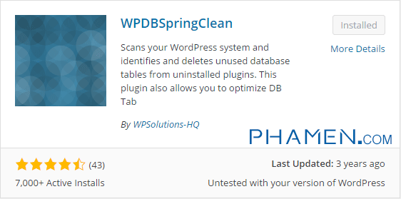 WPDBSpringClean-WordPress